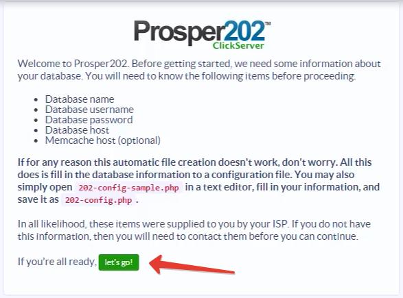 Prosper202 установка на хостинг