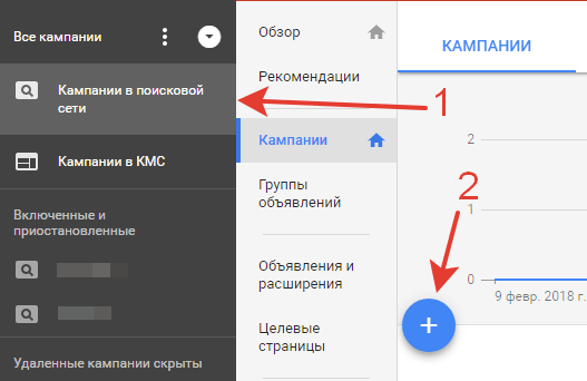 Кампания adwords на поиске